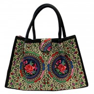 Jolly Big Fashion Bags - Blue Lotus Flowers