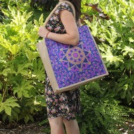 Lrg Shopping Bag Blue Alpana