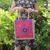 Sml Shopping Bag Pink Alpana