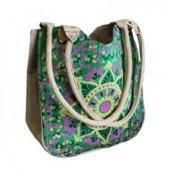 Moon Shopping Bag Green Alpana
