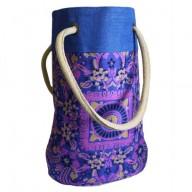 Barrel Shopping Bag Blue Alpana