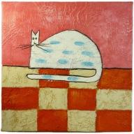 Fat Cat - 30cm x 30cm