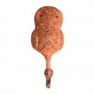 Metal Hook - Owl - Orange