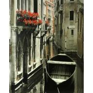 Venice Flowers - 35cm x 28cm - 24mm Thick Wooden Base
