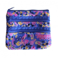 Alpana Silk Jewellery Pouch - Blue