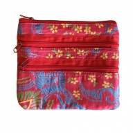 Alpana Silk Jewellery Pouch - Red