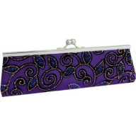 Long Purple Clutch Bag