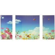 Blue Sky Thinking - Left 60 x 30cm Middle 60 x 60cm Right 60 x 30cm