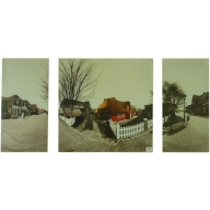 Village Life - Left 60 x 30cm Middle 60 x 60cm Right 60 x 30cm
