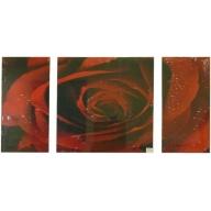 Mega Rose - Left 60 x 30cm Middle 60 x 60cm Right 60 x 30cm
