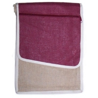 Jute Laptop Bag - Burgundy