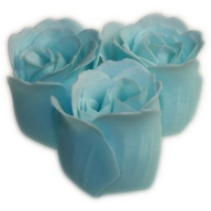 Bath Roses - 3 Roses in Heart Box (Ocean)