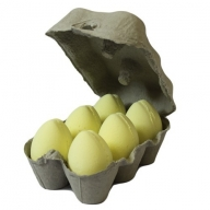 Box of 6 Bath Eggs - Banana - Yellow (6x 50gm)