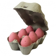 Box of 6 Bath Eggs - Cherry - Red (6x 50gm)