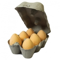 Box of 6 Bath Eggs - Tangerine&Grapefruit- Orange (6x 50gm)