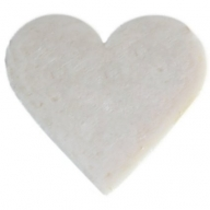 6x Heart Guest Soaps - Coconut