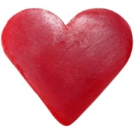 6x Heart Guest Soaps - Raspberry