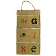 Jute Organiser 6 pockets - Organise