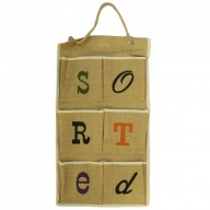Jute Organiser 6 pockets - Sorted