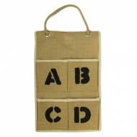 Jute Organiser 4 pockets - ABCD
