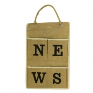 Jute Organiser 4 pockets - NEWS