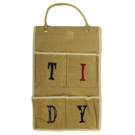 Jute Organiser 4 pockets - TIDY