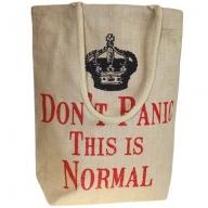 Jute Trend Bag - Don't Panic