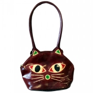 Pussy Cat Bag - burgundy