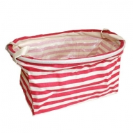 Reinforced Cotton Basket - Red Stripes