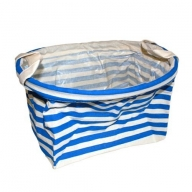 Reinforced Cotton Basket - Blue Stripes