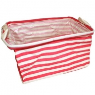 Reinforced Cotton Basket - Red square