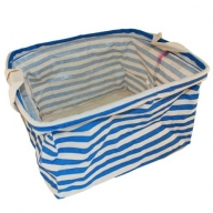 Reinforced Cotton Basket - Blue square