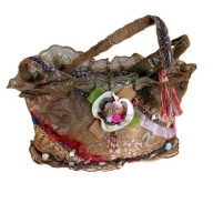 Shabby Chic Bag - Coffee