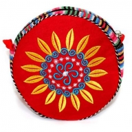 Tibetan Wheel of Life Bag - Blood Red