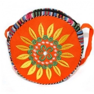Tibetan Wheel of Life Bag - Orange