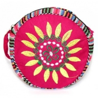 Tibetan Wheel of Life Bag - Violet