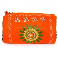Log Bag Wheel of Life Bag - Orange