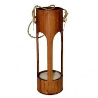Bamboo Lantern - Dark Brown
