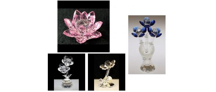 Crystal Flowers & Lotus