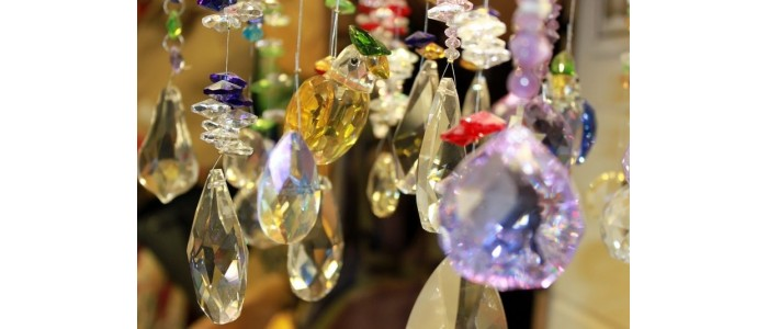 Hanging Crystals with Designer Clusters