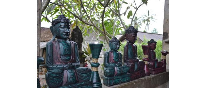 Buddhas - Carved Wooden Albesia Buddhas