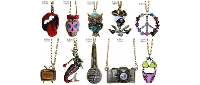 Retro Bling Pendants
