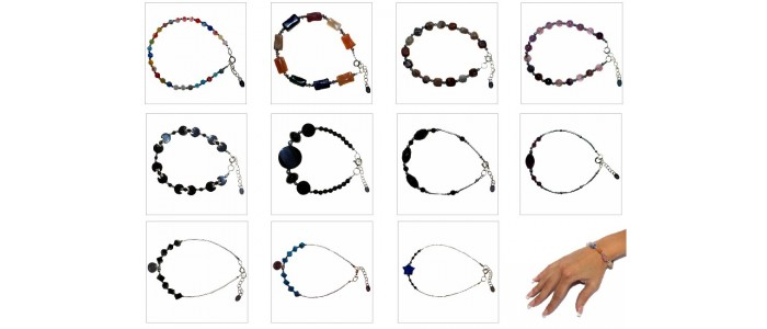 Silver & Gemstone Bracelets