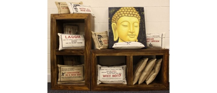 Jute Cushion Covers with Quotes
