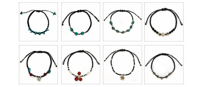 Silver Waxed Cord Bracelets