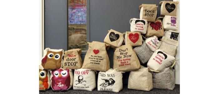 Jute and Cotton Door Stops