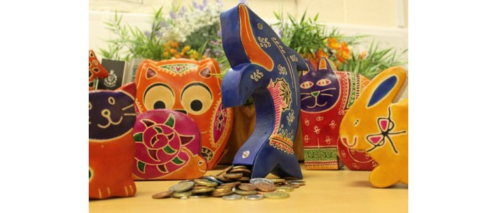 Recycled Leather Money Boxes