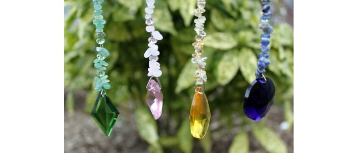 Crystal Strands with Gemstones