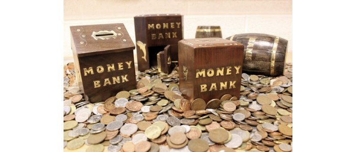Retro Wood & Brass Money Boxes