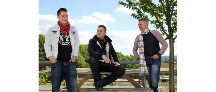 Men in Tartan Scarves